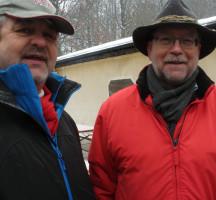 Gerd Aulenbach (BM von Rothenbuch) und Dieter Trageser - zwei Kreisräte unter sich