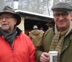 Gerd Aulenbach (BM von Rothenbuch) und Thomas Barko