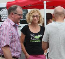 Gespräche mit den Bügern im Dreispitz im Juli 2013