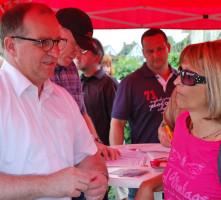 Vor Ort: Mit Maria Schüßler, Vorsitzende der Bürgerinitiative gegen Bahnlärm - Juni 2013
