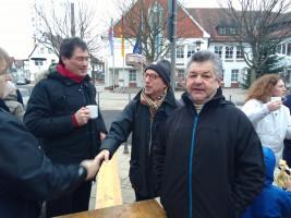 Wolfgang Jehn, Thomas Leimeister, Dieter Trageser beim Neujahrsempfang 2019