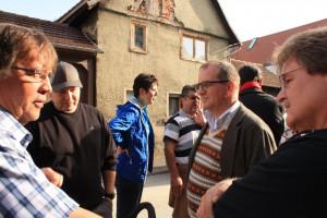 Besuch der Kreistagsfraktion an der Gersprenzbrücke