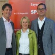 Wolfgang Jehn, Martina Fehlner und Andreas Lotte