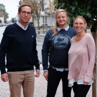 Der neue Vorsitzende und seine Stellvertreterinnen Valentina Schwarz und Janine Morhard (v.l.)