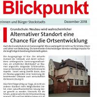 Die Standortfrage: Schon im Dezember berichtete die SPD in ihrem Blickpunkt.